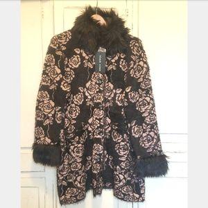Black Rivet Black, Blush floral cardigan jacket